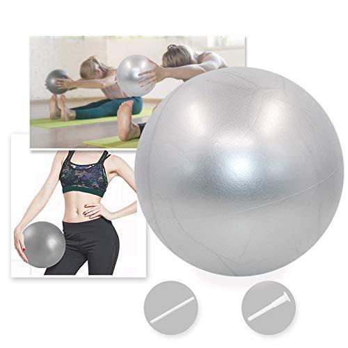 Bola YogaEjercicio,Pilates Pelota Equilibrio,Mini Balón Ejercicio Anti explosión 25cm,para Gimnasio, Yoga, Masaje y Pilates en Casa (Gris)