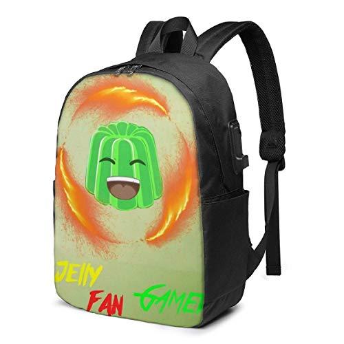 YTHH Jelly Time Leisure USB 17in Backpack Laptop Adjustable Shoulder Busin Travel School