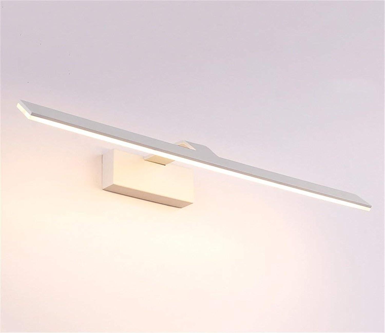 KISlink Nordeuropa Spiegelfrontleuchte LED Toilette Einfache Moderne Toiletten Bad Kommode Spiegelleuchten Wasserdicht Anti-Beschlag Rost Spiegelschrank Speziallampen (weies Licht warmes Licht) (