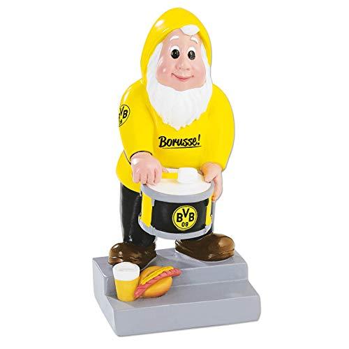 Borussia Dortmund Unisex Bvb-gartenzwerg Trommler Gartenzwerg, Schwarz/gelb, Einheitsgröße EU