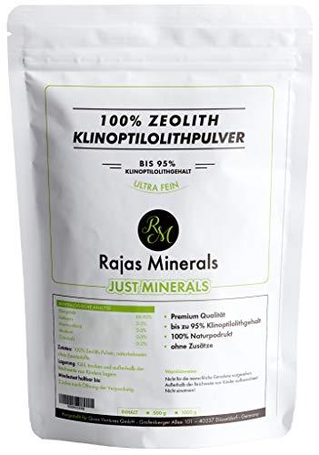 1kg Zeolith-Klinoptilolith Pulver (Klinoptilolithgehalt bis 95%) in Premiumqualität - sehr fein gemahlen und frei von Zusatz-, Konservierungs- und Füllstoffen. Detox Mineralerde (1000 g)