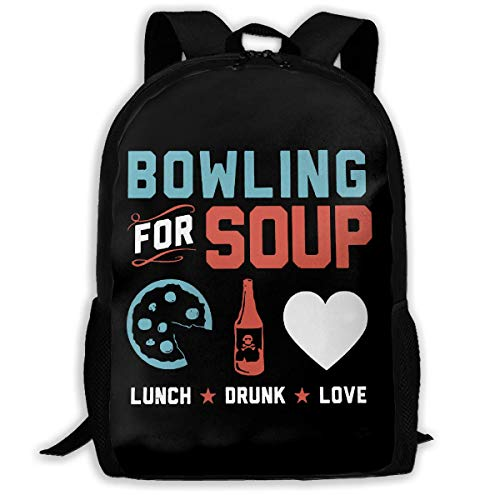 TTmom Schulrucksack,Schüler Bag,Rucksack Damen Herren Bowling for Soup Unisex Backpack Shoulder Bag School Backpack Travel Bags Laptop Backpack