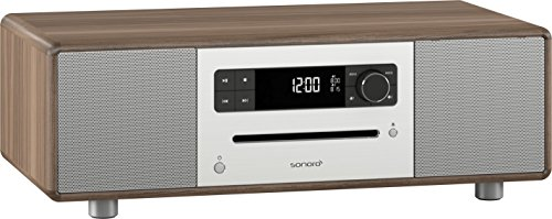 sonoroSTEREO by sonoro Walnuss Stereo Musiksystem mit Bluetooth, CD, DAB+ Radio und Naturklängen