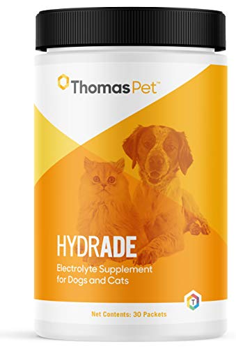 Thomas Pet HydrADE - Electrolyte Supplement for Dogs & Cats - Maintains Hydration & Proper Fluid Balance - Replenishes Electrolytes - Great for Agility & Hunting Dogs - 30 Packets
