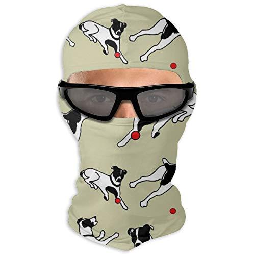 Best Jack Russell Terrier Balaclava Face Mask, Dustproof and Windproof Ski Mask, Cycling Motorcycle Neck Gaiters Warmer Hood Winter Gear for Men Women White