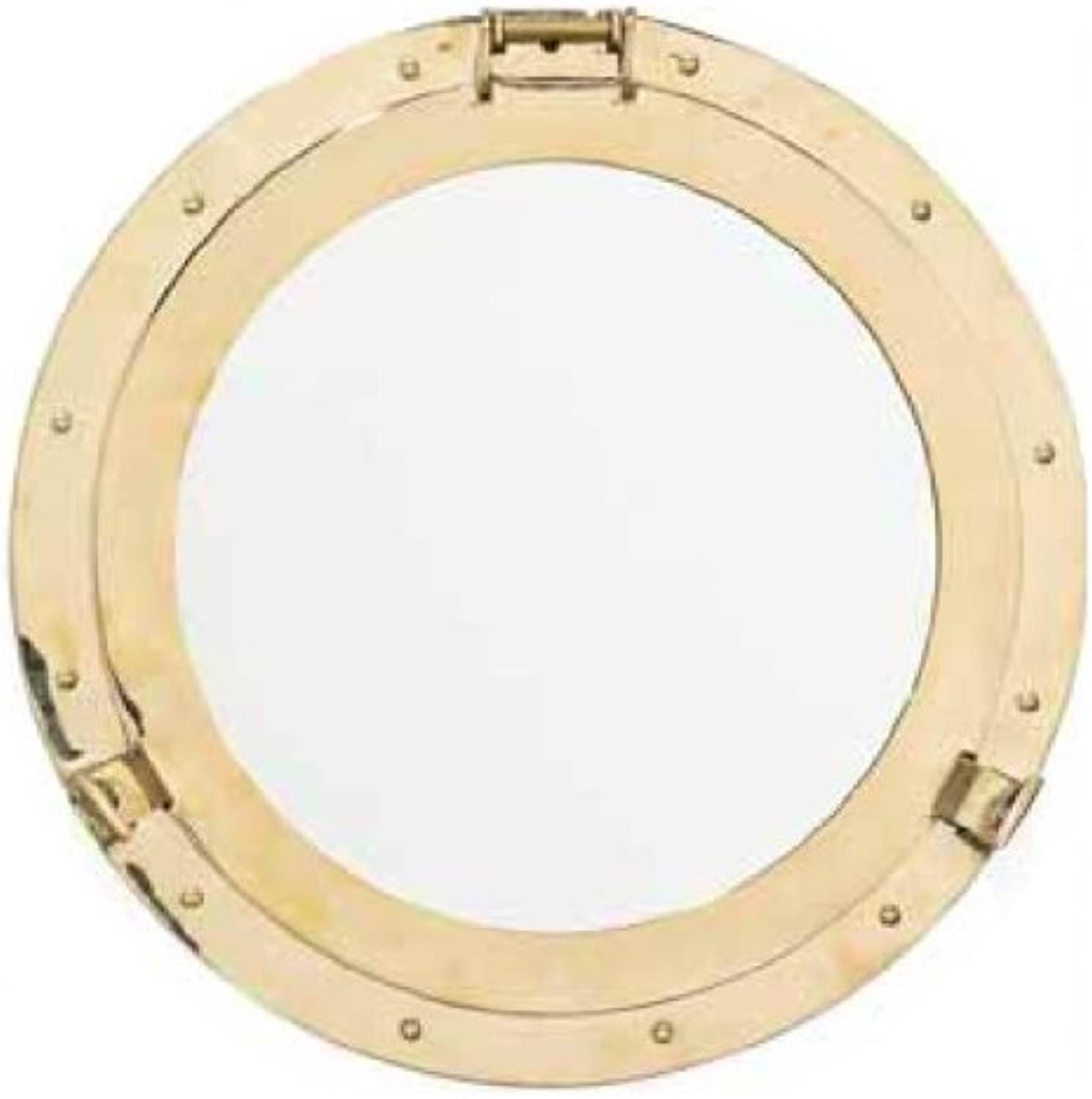 Brass Porthole Mirror - 20 Inches