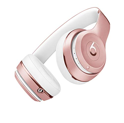 Beats Solo3 Wireless - Auriculares Supraaural, Oro/Rosa