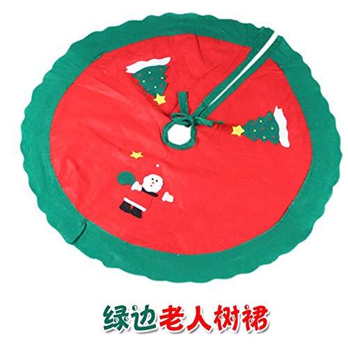 SDSQSCL Albero di Natale di Gonne Santa Claus Pattern Albero di Natale Decorazioni Anno Xmas Party Casa Vacanze Decorazioni