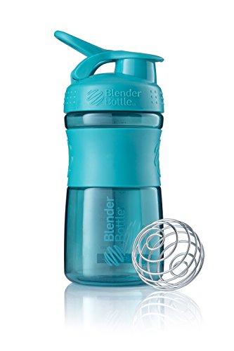 BlenderBottle Sportmixer Tritan Trinkflasche mit BlenderBall, geeignet als Protein Shaker, Eiweißshaker, Wasserflasche oder für Fitness Shakes, BPA frei, skaliert bis 500 ml, 590 ml, teal