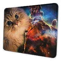 マウスパッド かわいい宇宙猫 ゲーミング オフィス最適 高級感 おしゃれ 耐久性が良い 滑り止めゴム底 ゲーミングなど適用 マウスの精密度を上がる