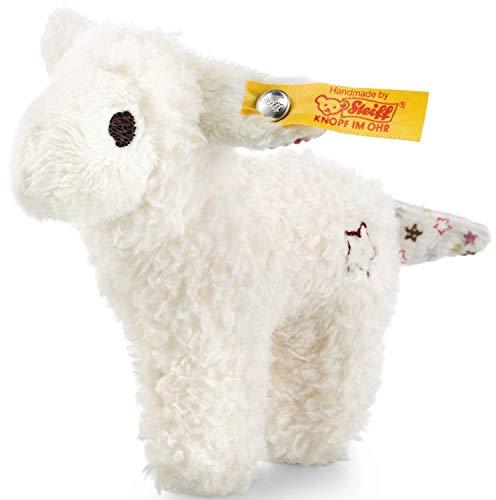 Steiff Mini Knister-Lamm mit Rassel - 11 cm - Kuscheltier für Babys - kuschelig & waschbar - weiß (240676)