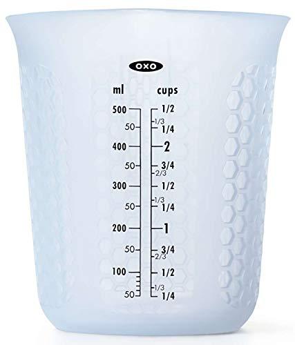 OXO 計量カップ 電子レンジ対応 シリコン メジャーカップ 中 500ml