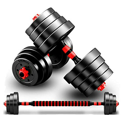 Strongway® Adjustable Dumbbell Set - 30KG 40KG SETS - 2 in 1 Adjustable Dumbbells Barbell Set - Free Weights Dumbbells Set with Connecting Rod - Weight Lifting Dumbbell Set/Barbell Set for Home Gym