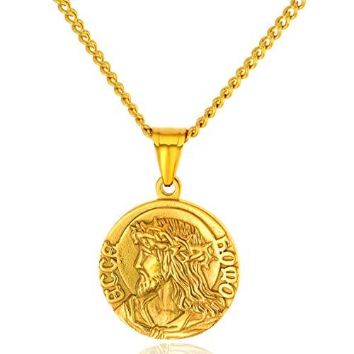 XRDSS Christian Jesus Christ Face Pendant Necklace...