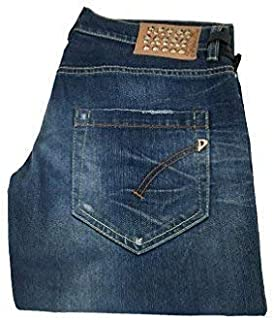 DONDUP Jeans Donna MOD Dionis P269 con Borchie 98% Cotone 2% Elastan Made in Italy (29 - IT 43)