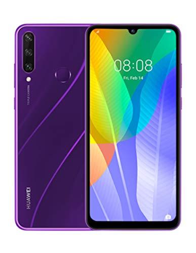HUAWEI Y6P Dual SIM Smartphone (16 cm - 6.3 Zoll, 64 GB interner Speicher, 3 GB RAM, Android 10 AOSP ohne Google Play Store, EMUI 10.1.) Phantom Purple