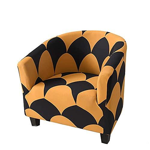 BANNAB Funda de sofá elástica para Silla de bañera, Minimalista, a Prueba de Polvo, Universal, extraíble, Lavable, para Muebles, Fundas de Spandex para sofá para Sala de Estar, café (Amarillo)