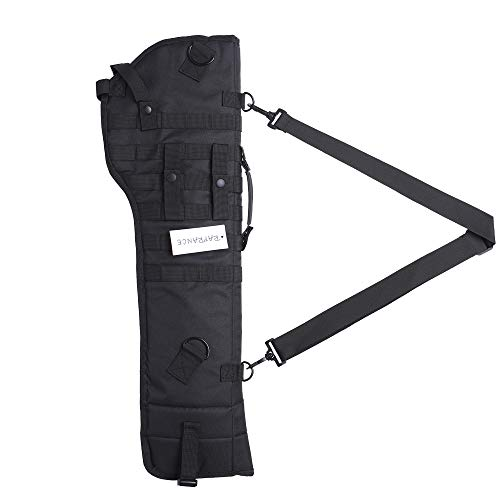 Raprance Rifle Scabbard Gun Bag Rifle Sling Case Tactical Bag Shotgun Hunting Molle Holster (Black)