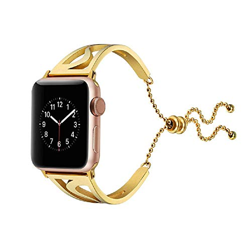 Beidifa Für Apple Watch Armband 38mm / 42mm, Apple Watch Band S-Form Edelstahl Smart Uhrenarmband Ersatzarmbänder Armband für Apple Watch Sport & Edition Serie 4 3