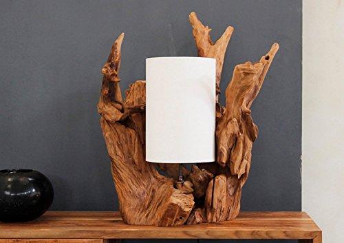 *Möbel Bressmer Tischlampe Treibholz BION | Tischleuchte Wurzel Holz Treibholzlampe Höhe 70cm | Wurzellampe – Unikat der Natur*