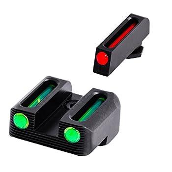 TRUGLO Fiber-Optic Front and Rear Handgun Sights for Glock Pistols Glock 42 43 Black One Size