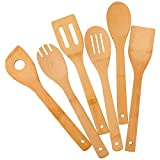Zhuoyue Kitchen Cooking Utensils Set, 6 Pcs Bamboo Wooden...