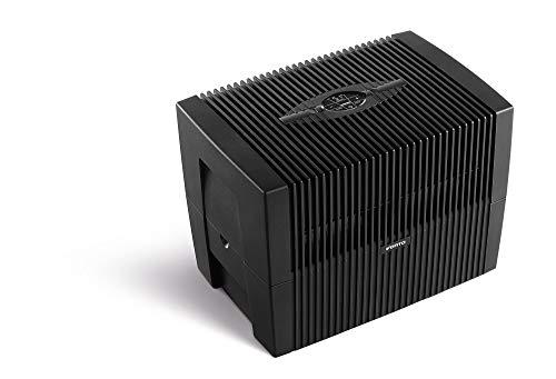 VENTA Comfort Plus Airwasher LW45, Luftbefeuchtung und Luftreinigung (bis 10 µm Partikel) für Räume bis 60 m², brillant schwarz, mit digitaler Steuerung, UK-Stecker