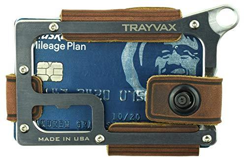 Trayvax Contour Minimalist Wallet Tactical Armor Steel Front Pocket RFID