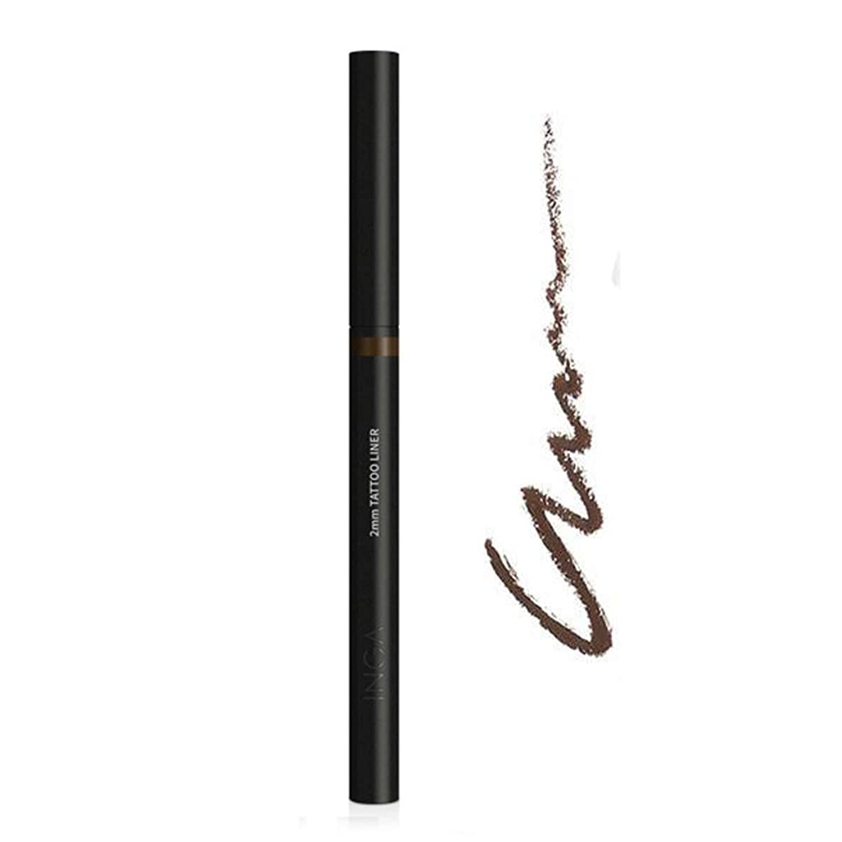INGA 2mm Tattoo Liner for Dedicated Eye Line & Long Lasting, Non-Smudging (Dark Brown)