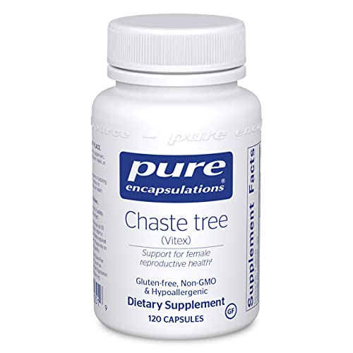 Pure Encapsulations Chaste Tree (Vitex)   Supplement to Support Healthy Menstrual Cycle Duration and Flow, Reproductive Function, and Breast Comfort*   120 Capsules