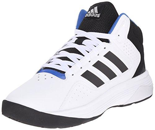 Zapatillas de Baloncesto de Adidas Performance Cloudfoam Ilation Mediana, Blanco/Negro de la Plata