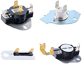 3387134 Cycling Thermostat 3977767 Dryer Thermostat 3977393 Thermal Fuse 3392519 Dryer Thermal Fuse Kit Exact Fit for Whirlpool & Kenmore Dryers, Figure7 for More Compatible Models