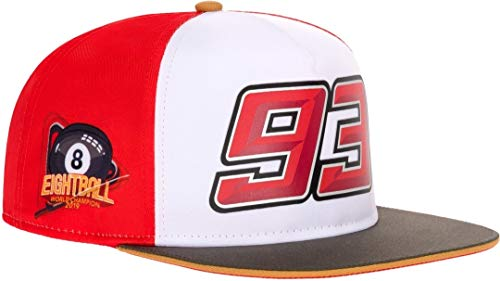 Marc Marquez Flat Peak Cap 93 MotoGP World Champion 8 Ball Official 2019