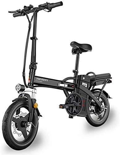 CLOTHES Bicicleta de montaña eléctrica, Adulto Bicicleta eléctrica extraíble 48V Agua y al Polvo batería de Litio de 14 Pulgadas 400W sin escobillas del Motor Urbana/Cercanías,Bicicleta