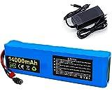 All-Purpose Paquete Baterías 48V 14Ah Batería Litio 14000mAh con Cargador BMS + para Bicicletas Eléctricas 200W-750W Scooters Eléctricos Triciclos Eléctricos Sillas Ruedas Eléctricas