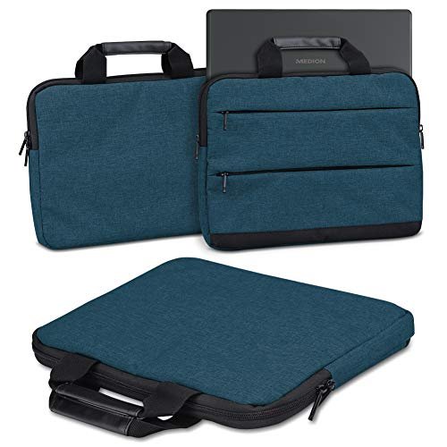 Schutzhülle kompatibel für Medion Akoya E3222 Laptop Tasche Sleeve Case Notebooktasche Hülle Cover in Grau/Dunkel Grau/Blau, Farbe:Blau
