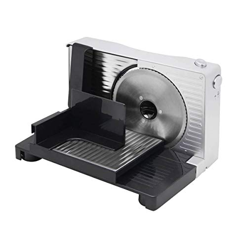 BAOSHISHAN Meat Slicer Electric Bread Cheese Butter Deli Food Slicer 6.7in. Compact Portable Collapsible for Home Use