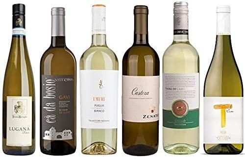 6er Probierpaket Weißwein Italien | Weinprobe Set | 6 x 0,75L | trocken