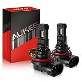 Aukee H11 LED Fog Light Bulb H8 H16 Bulbs 12V 4000Lm 6000K White
