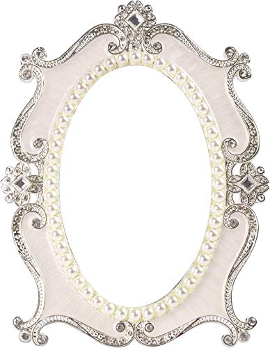 Nerien Vintage Style Pearl Oval Mirror