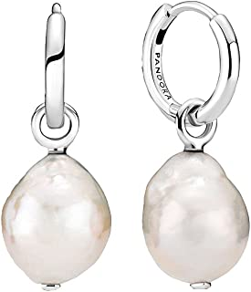 Pandora Cultured Baroque Pearl Hoop Earrings