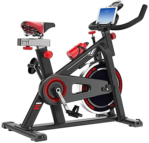 Bicicleta Plana Bicicleta de Fitness para Interiores con Soporte para teléfono Pantalla LCD Monitor de Ritmo cardíaco Volante para Entrenamiento en casa Entrenamiento Cardiovascular