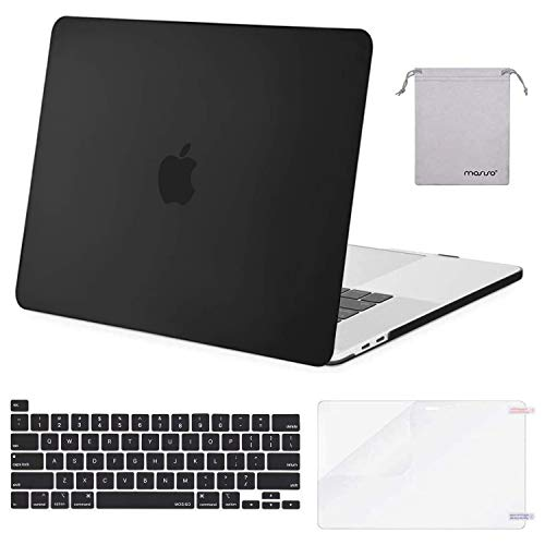 MOSISO MacBook Pro 16 inch Case 2020 2019 Release A2141, Plastic Hard Shell Case & Keyboard Cover & Screen Protector & Storage Bag Compatible with MacBook Pro 16 inch with Touch Bar, Black