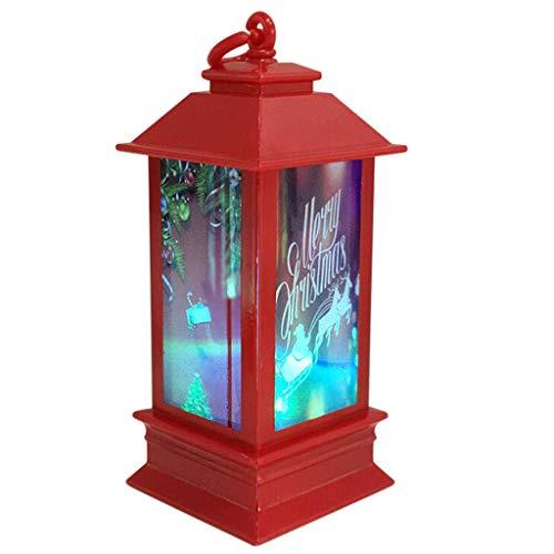 sfdeggtb 1PC Outdoor Candle Lantern Decorative with LED Light Christmas Candle LED Tea Light for Christmas Decoration Tabletop Lanterns Decorative Home Hanging Lanterns Battery Powered (J)