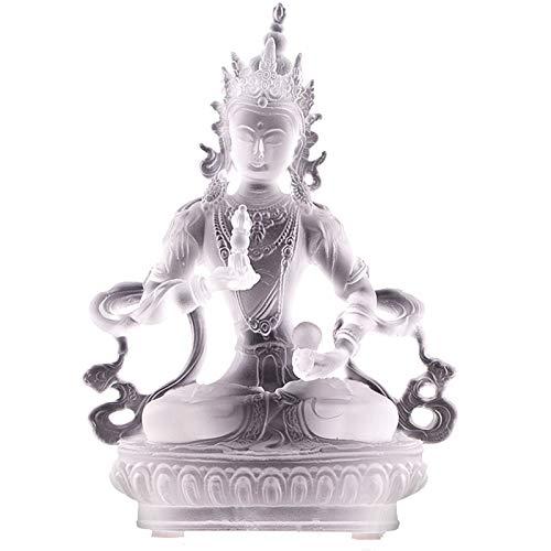 J.Mmiyi Vajrasattva Escultura Decorativa Figuras, India Tibetan Religión Estatua Casa Oficina Adornos, Regalo De La Suerte,Blanco