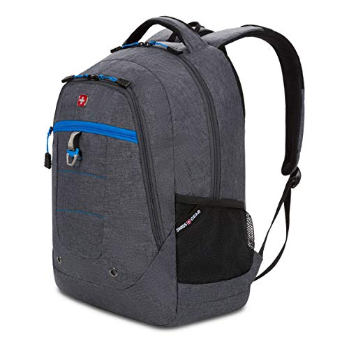 SWISSGEAR 5918 Laptop Backpack, Ideal for Commuting, Work, Travel, College, and School, Fits 15 Inch Laptop Notebook - Grey Heather