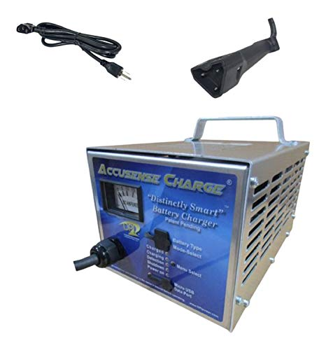48volt 17amp Golf Cart Battery Charger with EZ-Go RXV connector