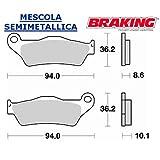 794SM1 COPPIA PASTIGLIE COMPATIBILE CON BMW R 1150 GS ADVENTURE11502002 2005 POSTERIORE DX BRAKING