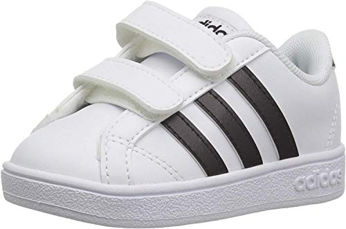 adidas Performance Baby Baseline Sneaker, White/Black/White, 5K M US Toddler