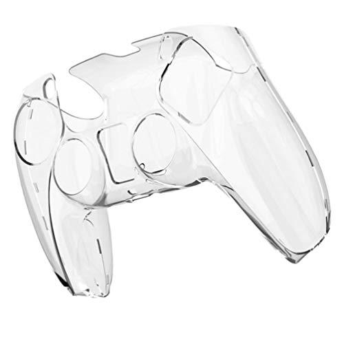 PIXNOR Tampa Do Controlador Ps5 Tampa de Silicone Anti-Derrapante para Playstation 5 Controlador de Silicone Capa Protetora de Pele para Controlador Fio Ps5 Transparente